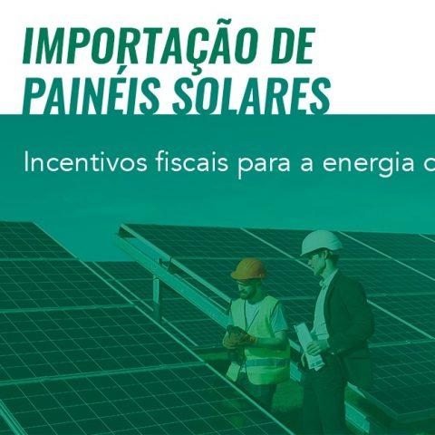 Importação de paineis solares